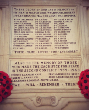 Honouring the villagers who served in WW1